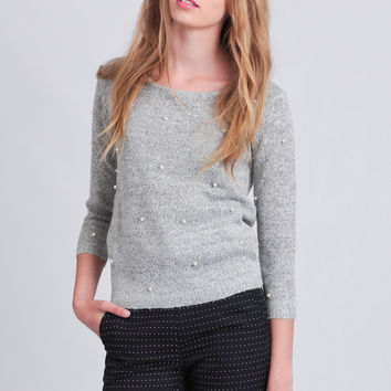 Pearls Of Wisdom Sweater By Dear Creatures