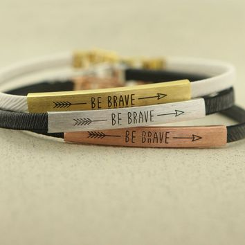 Be Brave Arrow Bracelet