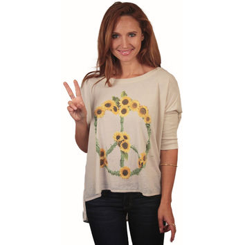 Chaser Sunflowers Boxy Tee