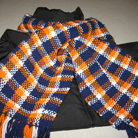 Denver Broncos Hand woven scarf, to keep you warm
