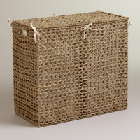 Natural Seagrass Divided Hamper - World Market