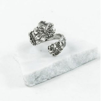 Silver Spoon Adjustable Ring - Beatrice