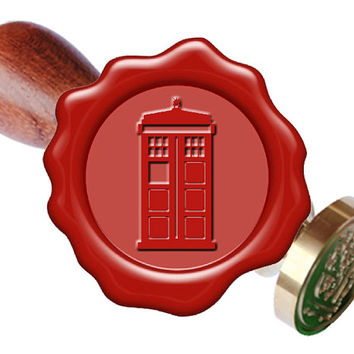 Tardis Police Box Wax Seal Stamp or Wax Stick Box Set Starter Tool Kit