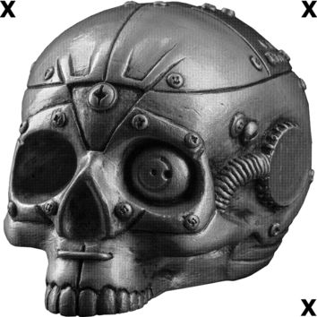 Skull with mechanisms style of Steam punk - Airbrush Stencil