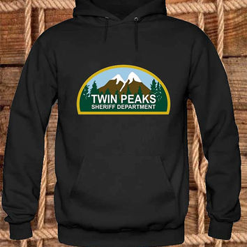 Twin Peaks Sheriff Department Hoodies Hoodie Sweatshirt Sweater Shirt black white and beauty variant color Unisex size