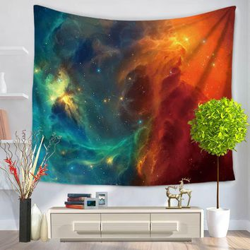 150*130cm/150*200cm Stars Mandala Tapestry Beach Table Cloth Hippie Blanket Scenery Decoration Wall Hanging Tapestries Boho Bed
