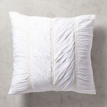 Bertilia Euro Sham in White Euro Sham Size Bedding by Anthropologie
