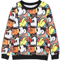 Cute Graphic Cartoon Animal Sweatshirt - OASAP.com
