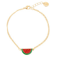 Watermelon Gold Anklet