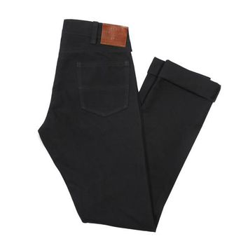 GN.04 SLIM FIT WAXED CANVAS PANTS - BLACK
