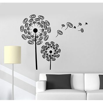 Vinyl Wall Decal Dandelions Flowers Room Art Decoration Stickers Mural Unique Gift (ig4985)