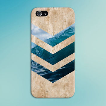 California Wave Surf Beach Chevron Light Wood Phone Case, iPhone 6, Tough iPhone Case, Galaxy S7, Samsung Galaxy Case, Note 5, CASE ESCAPE