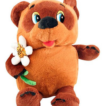 Winnie the Pooh with a Flower Soft Toy, Russian Talking Toy