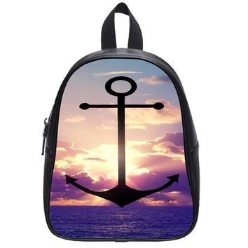 Anchor Refuse To Sink School Backpack Large