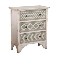 Powell Aubrey Cabinet in Distressed White