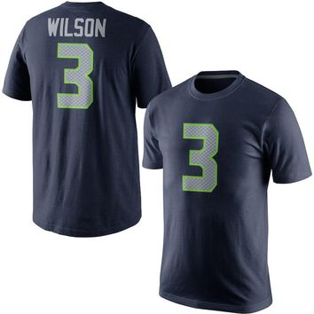 VZ VARE ZANE Official Men's Seattle Russell Wilson t shirts Jerseys Seahawks Color Rush Player Pride Name & Number