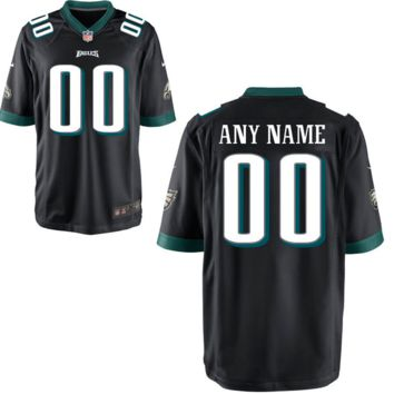 DCCK Philadelphia Eagles Jersey - Men's Black Custom Game Jersey