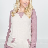 Dusty Pink Casual Pocket Top