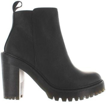 Dr. Martens Magdalena   Black Leather High Chunky Heel/platform Bootie