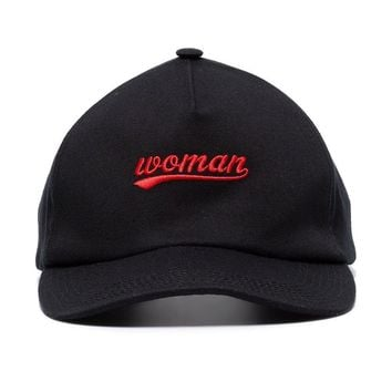 "Red Signature ""Woman"" Hat by OFF-WHITE"