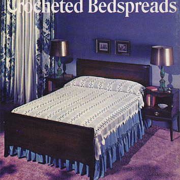 1960s Crochet Bedspread Patterns Booklet | Vintage Lily Design Book 210