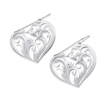Heart Earrings - 925 sterling silver earrings, special gifts