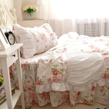 Handmade Bedding Set, Cottage Bedding, Shabby Chic Bedding Set