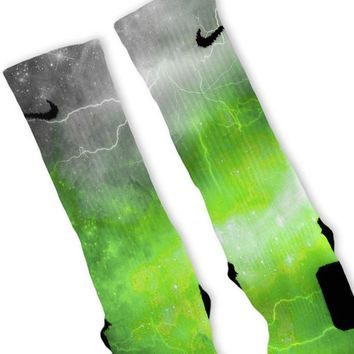 Green Storm Customized Nike Elite Socks