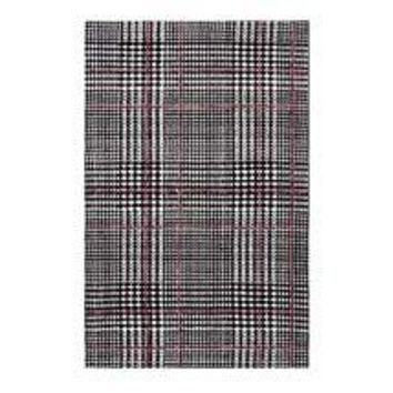 KAJA ABSTRACT PLAID AREA RUG