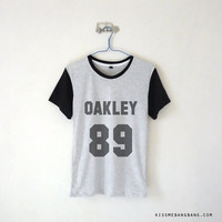 Oakley 89 Baseball Tee / Tyler Oakley / Youtuber Shirt / Vine / Tumblr / Plus Size