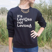 IT'S LeviOsa not LeviosA HARRY POTTER Letter T-Shirt