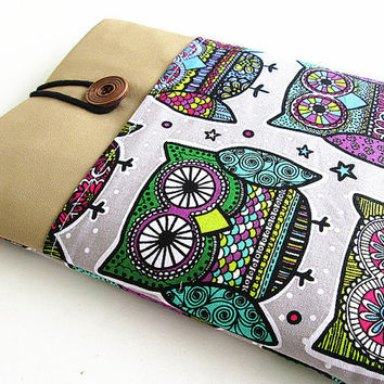 Macbook case, Macbook 13 inch Sleeve Macbook Air/Pro Case Padded 13 in Laptop Sleeve-Owls