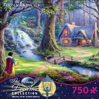Thomas Kinkade The Disney Dreams Collection:750 Piece Puzzle-Snow White Discovers the Cottage