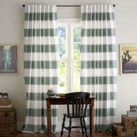 PB CLASSIC STRIPE DRAPE, SET OF 2