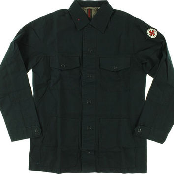 Independent Friction Military Jacket Large Midnight Navy
