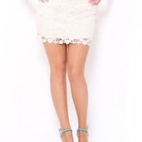 Floral Crochet Skirt - JUST ARRIVED