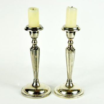 Vintage Pair of Silver Candlesticks by havenvintage on Etsy