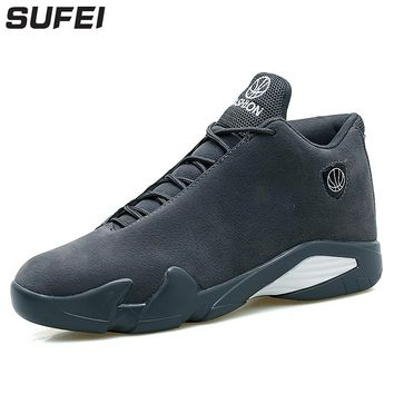 sufei Men Professional Basketball Shoes Wearable Outdoor Light Sport Boots Sneakers Athletic Shoes Street Trainers