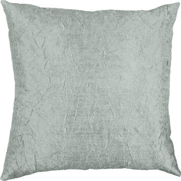 Throw Pillow Cover - Silk Dupioni Crinkled Decorative Pillow - 16 inch 18 inch or 20 inch Pillow Cushion - Silk Fabric: Sky Blue