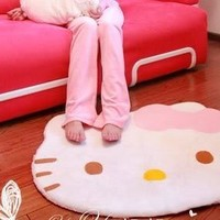 Hello Kitty diecut face shape Area Rug 30 X 25 inches:Amazon:Baby