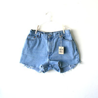 "Waist 34"" High Waisted Vintage Levi Shorts"