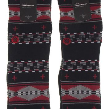 Stance Casual Socks 2 Pair Mens Combed Cotton Athletic Crew Southwest 9-13 Black