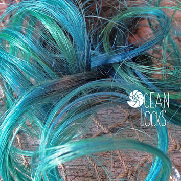 Dip Dye Hair Extensions, Hair extensions clip in, Ombre hair extension, Pastel hair , Green Hair, Teal Hair, Black Hair, Mermaid Hair