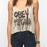 OBEY Brush Drip Super Crop Tank Top