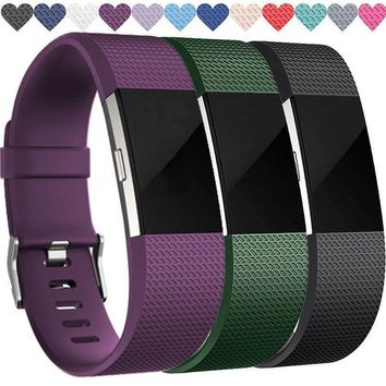 For Fitbit CHARGE 2 Replacement Silicone Band Rubber Strap Wristband Bracelet