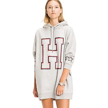 STUDDED HOODIE DRESS | Tommy Hilfiger