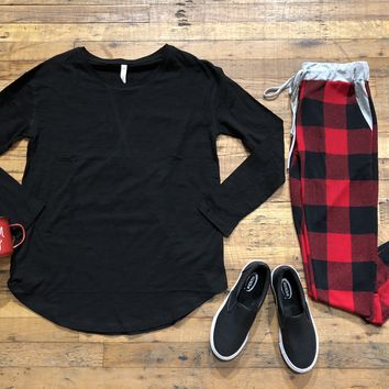 SALE! Buffalo Plaid Joggers in Red/Black