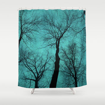 Trees Are Poems II (Tree Silhouettes) Shower Curtain by Soaring Anchor Designs