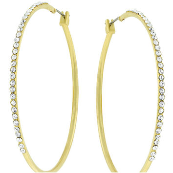 Gwen Classic Large Hoop CZ Gold Earrings  | 1.5ct | Cubic Zirconia | 18k Gold