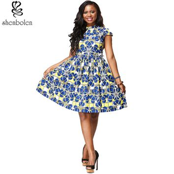 Summer African Dresses for Women Printing Tradition Dashiki